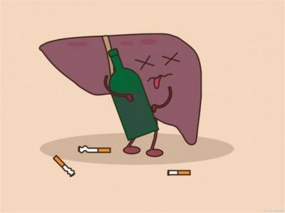 不是喝酒或者这两种水果对肝脏伤害大,尽量不要再吃了。