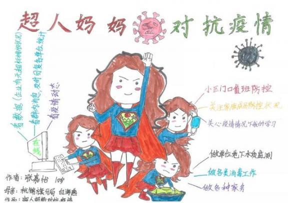 一组走心的图画!鄂尔多斯这些小朋友向一线抗疫工作者致敬!  作者 刘姝妙 王钰 图画 刘奕 嘉怡 第4张