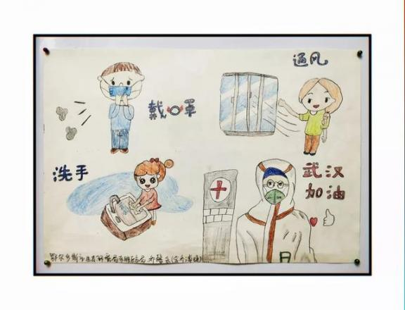 一组走心的图画!鄂尔多斯这些小朋友向一线抗疫工作者致敬!  作者 刘姝妙 王钰 图画 刘奕 嘉怡 第7张