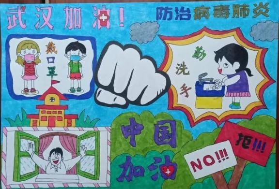 一组走心的图画!鄂尔多斯这些小朋友向一线抗疫工作者致敬!  作者 刘姝妙 王钰 图画 刘奕 嘉怡 第6张