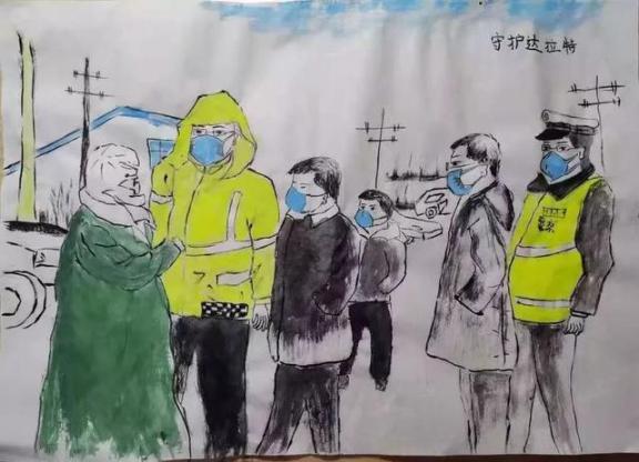 一组走心的图画!鄂尔多斯这些小朋友向一线抗疫工作者致敬!  作者 刘姝妙 王钰 图画 刘奕 嘉怡 第30张